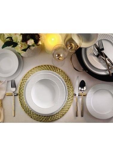 Kütahya Porselen Kütahya porselen ekose yemek takımı seti 24 prç. Renkli